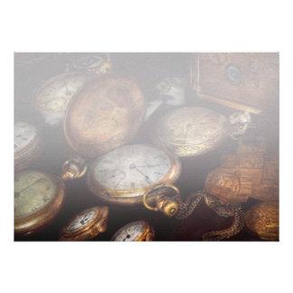 Steampunk - reloj - tiempo llevado invitación personalizada