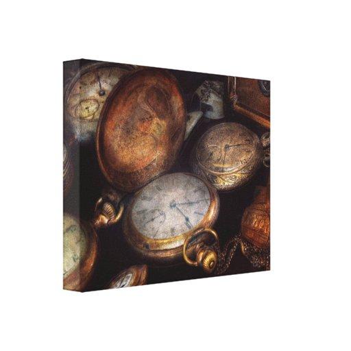 Steampunk - reloj - tiempo llevado impresiones de lienzo