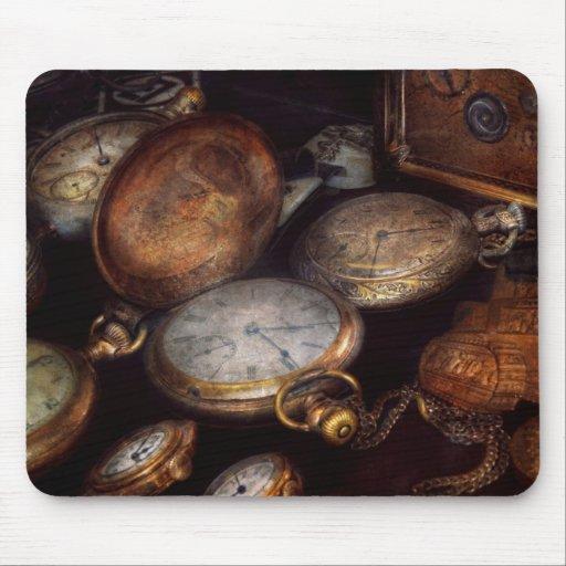 Steampunk - reloj - tiempo llevado tapete de ratones