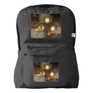Steampunk, relojes y engranajes mochila