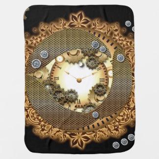 Steampunk, relojes y engranajes i mantas de bebé