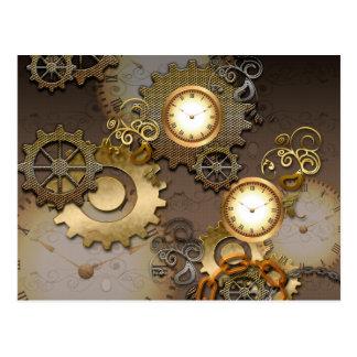 Steampunk, relojes y engranajes postal