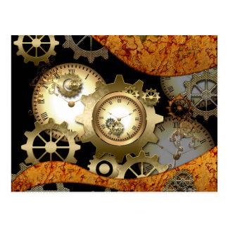 Steampunk, relojes y engranajes postales