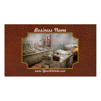 Steampunk - retro - la central eléctrica plantilla de tarjeta de negocio