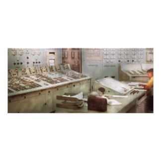 Steampunk - retro - la central eléctrica lonas personalizadas