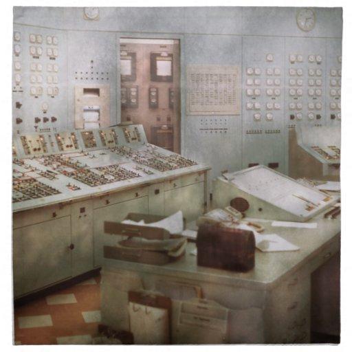 Steampunk - Retro - The power station Printed Napkins