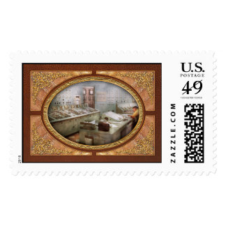 Steampunk - Retro - The power station Postage Stamp