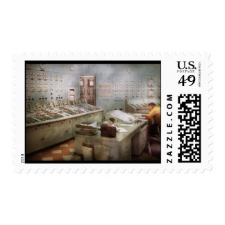 Steampunk - Retro - The power station Stamp