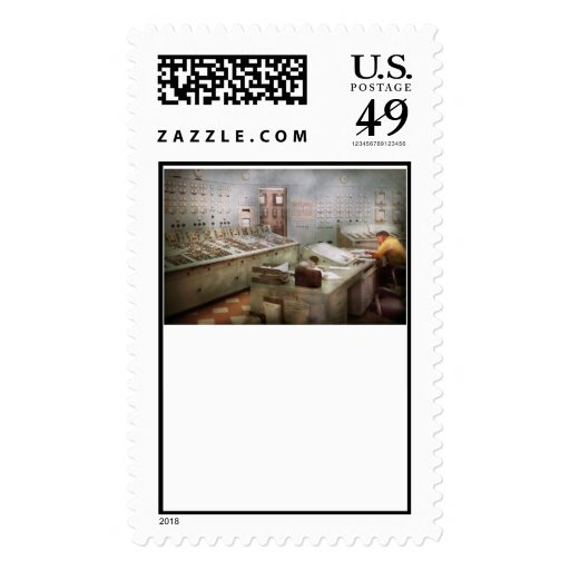 Steampunk - Retro - The power station Postage Stamps