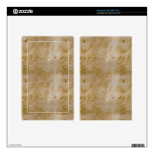 Steampunk Rivets Decals For Kindle Fire