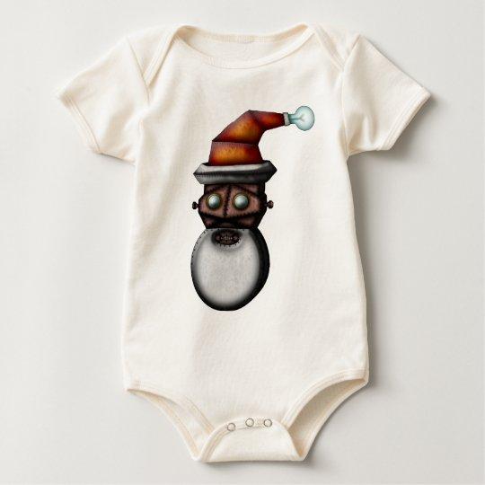 Steampunk Robo-Santa, babies Baby Bodysuit