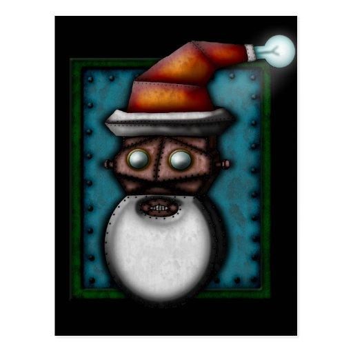 Steampunk Robo-Santa, postcard
