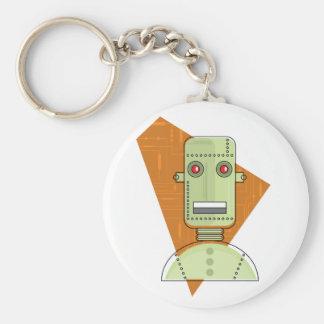 Steampunk Robot Basic Round Button Keychain