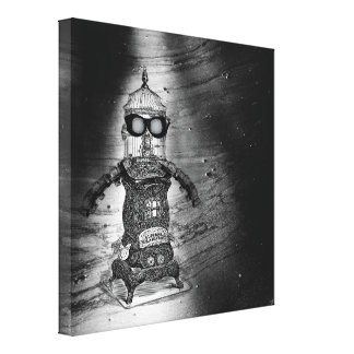 Steampunk Robot One By Artinspired Canvas Print