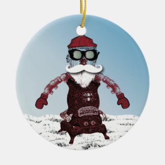 Steampunk Robot One Cool and Hip Santa Christmas Ornaments