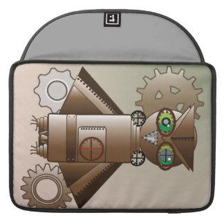 Steampunk Robot Owl Macbook Steeve MacBook Pro Sleeve