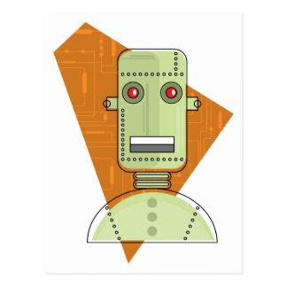 Steampunk Robot Postcard