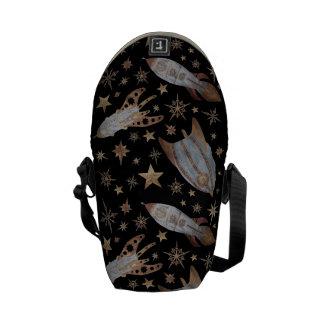 Steampunk Rockets Messenger Bag