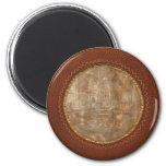 Steampunk - Room - Steampunk Studio 2 Inch Round Magnet