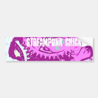steampunk rosado pegatina de parachoque