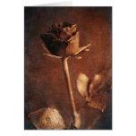 Steampunk Rose Greeting Card