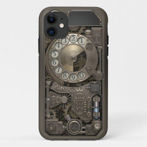 Steampunk Rotary Metal Dial Phone. Phone Case