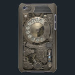 "Steampunk Rotary Metal Dial Phone. Case-Mate iPod Touch Case<br><div class=""desc"">Barely There 4th Generation iPod Touch Case. 