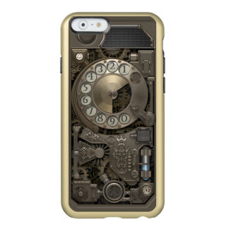 Steampunk Rotary Metal Dial Phone. Incipio Feather Shine iPhone 6 Case