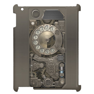 Steampunk Rotary Metal Dial Phone. iPad Covers