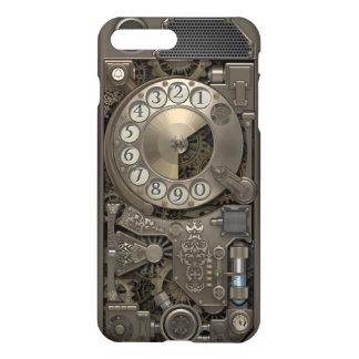 Steampunk Rotary Metal Dial Phone. iPhone 8 Plus/7 Plus Case