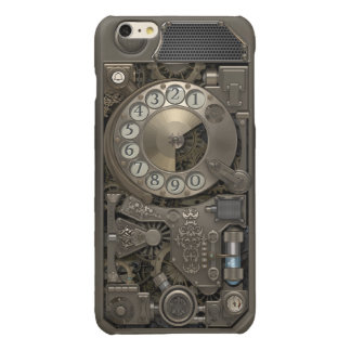 Steampunk Rotary Metal Dial Phone. Glossy iPhone 6 Plus Case