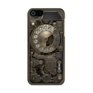 Steampunk Rotary Metal Dial Phone. Metallic Phone Case For iPhone SE/5/5s