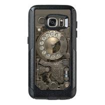 Steampunk Rotary Metal Dial Phone. OtterBox Samsung Galaxy S7 Case