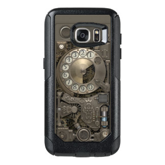 Steampunk Rotary Metal Dial Phone. OtterBox Samsung Galaxy S7 Case
