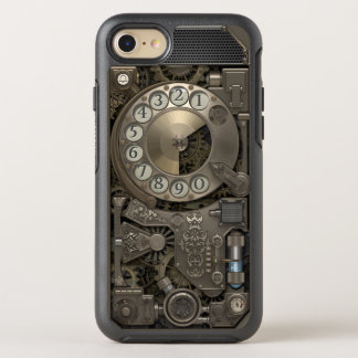 Steampunk Rotary Metal Dial Phone. OtterBox Symmetry iPhone 7 Case