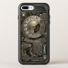 Steampunk Rotary Metal Dial Phone. Otterbox Symmetry Iphone 7 Plus Case at Zazzle