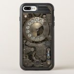 """Steampunk Rotary Metal Dial Phone. OtterBox Symmetry iPhone 8 Plus/7 Plus Case<br><div class=""""desc"""">Wonderful Vintage Style design itself is fresh and unique.  This unique Vintage illustration was made by artist G.O.S.Studio.</div>"""