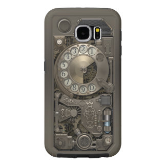 Steampunk Rotary Metal Dial Phone. Samsung Galaxy S6 Cases