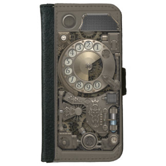 Steampunk Rotary Metal Dial Phone. Wallet Phone Case For iPhone 6/6s