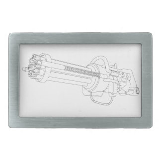 Steampunk Rotation Gun Rectangular Belt Buckle
