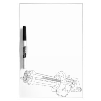 Steampunk Rotation Gun Dry Erase Board