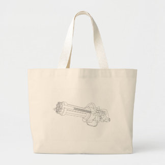 Steampunk Rotation Gun Large Tote Bag