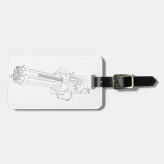 Steampunk Rotation Gun Luggage Tag
