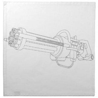 Steampunk Rotation Gun Napkin