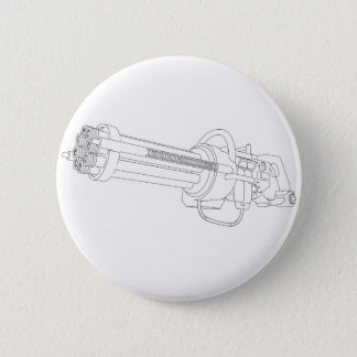 Steampunk Rotation Gun Pinback Button