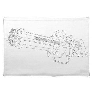 Steampunk Rotation Gun Placemat