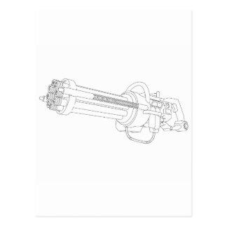 Steampunk Rotation Gun Postcard
