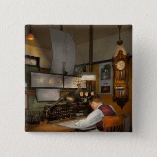 Steampunk - RR - The train dispatcher Button
