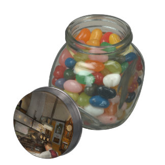 Steampunk - RR - The train dispatcher Jelly Belly Candy Jar