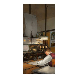 Steampunk - RR - The train dispatcher Rack Card